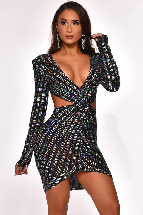 SHIMMERY NIGHT MINI DRESS