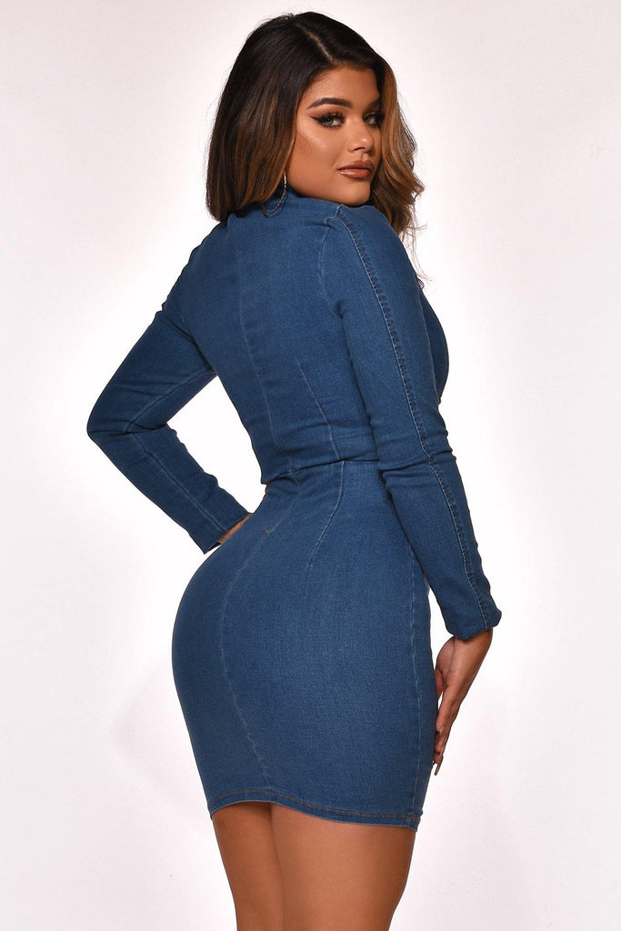 SO ME DENIM DRESS - The Boutique