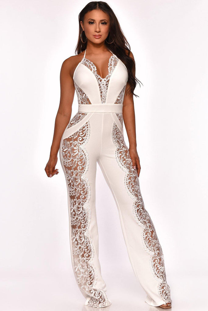 TAKING SIDES JUMPSUIT WHITE