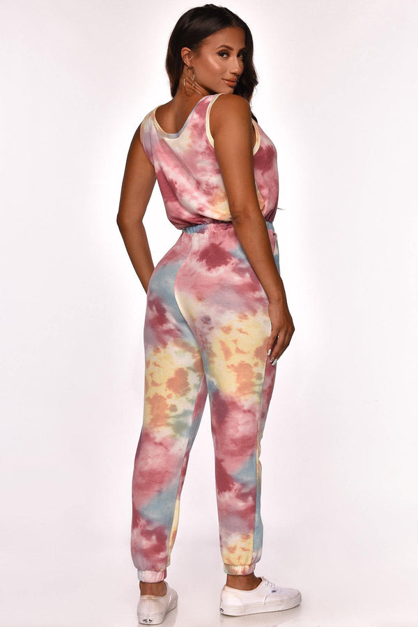 PLAY IT COOL TIE DYE JUMPSUIT
