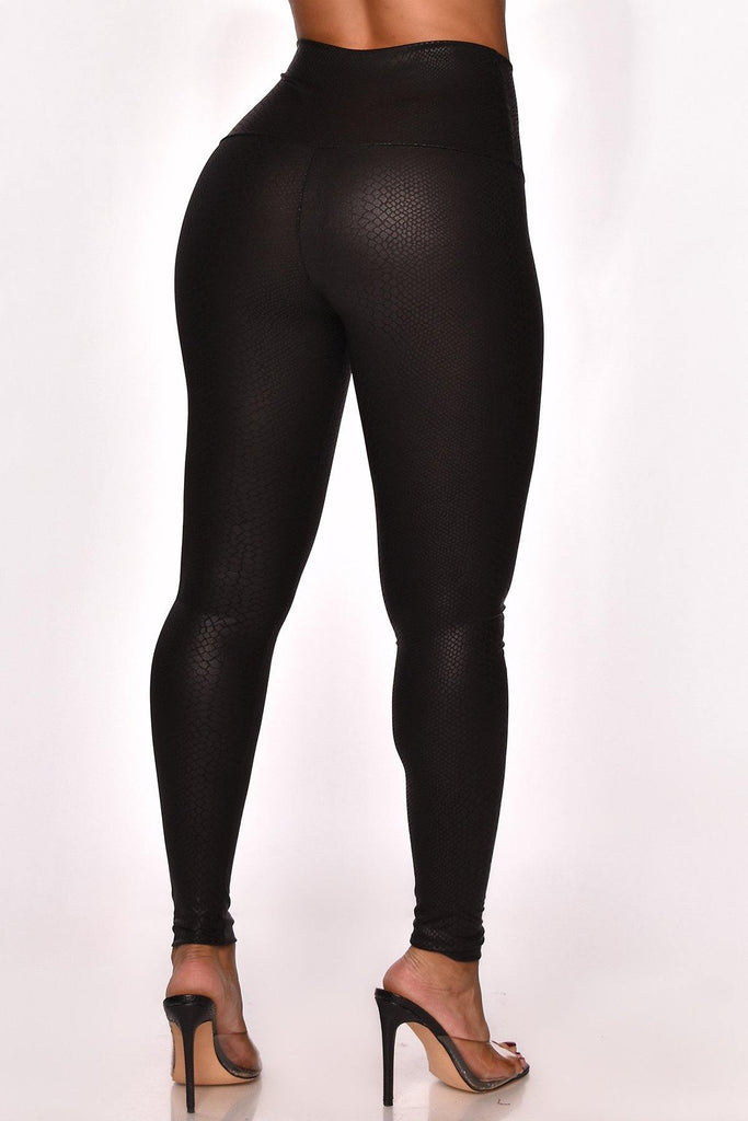 UNFORGETTABLE FAUX LEATHER LEGGINGS