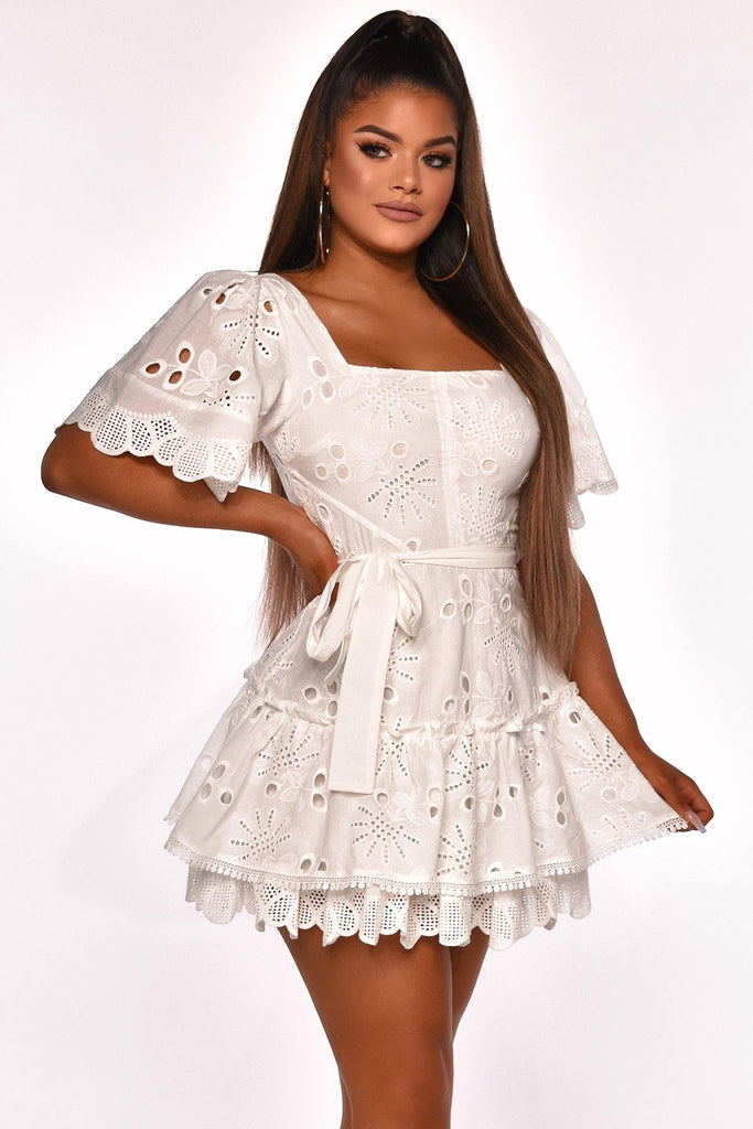 LETS TALK TEA MINI DRESS