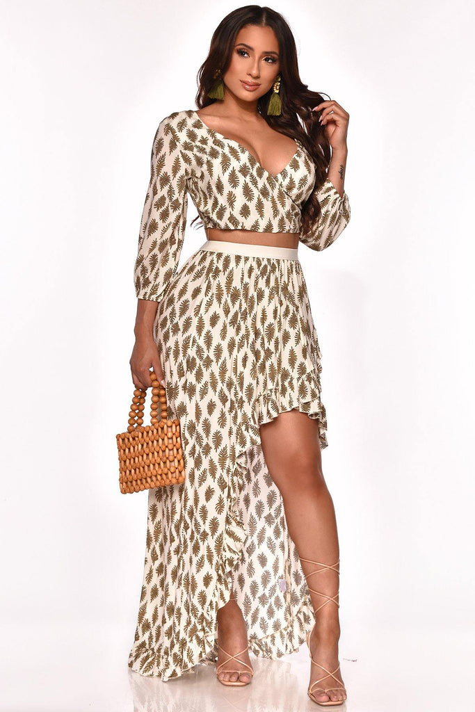 WORK THINGS OUT SKIRT SET
