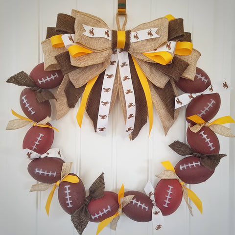 Wyoming Football Wreath