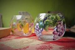 Hand Painted Votive Holders