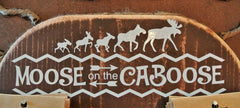 """Moose On The Caboose"" Family Car Decals"