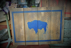 Wooden Buffalo Flag