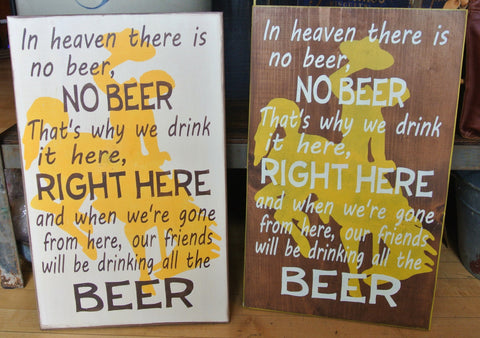 Beer Song Sign