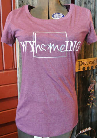 """Wyhomeing"" Maroon T-Shirt"