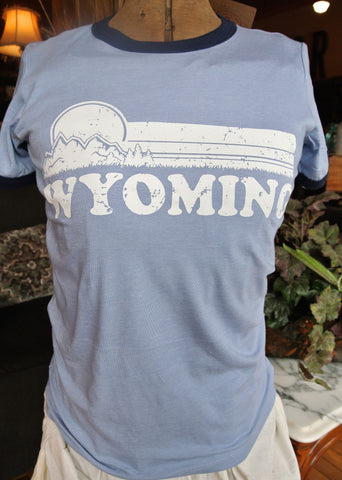 "Blue ""Wyoming"" Ringer Tee"