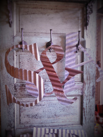 """LETTERS"" 17"" Corrugated Metal"
