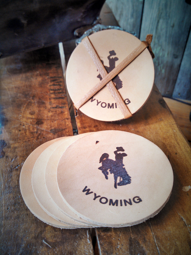 Wyoming Leather Coasters