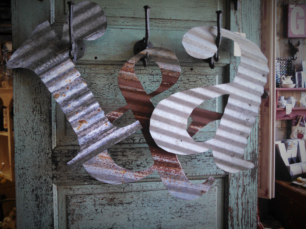 """LETTERS"" 15"" Corrugated Metal"