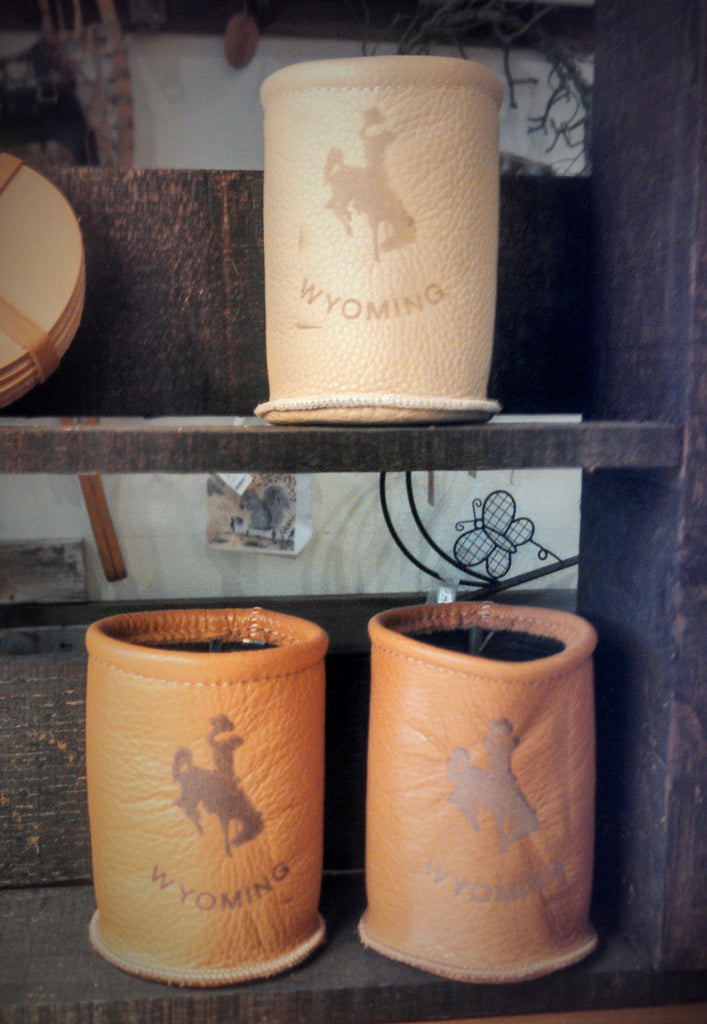 Wyoming Leather Can Koozie