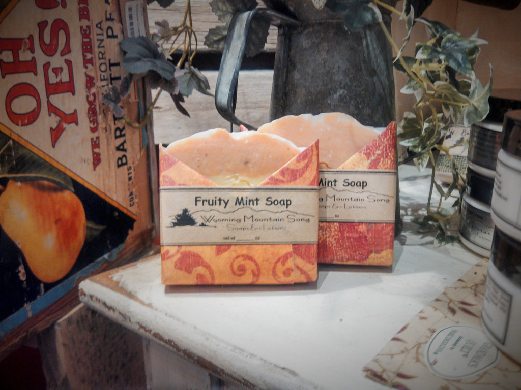"Wyoming Mountain Song ""Fruity Mint"" Soap"