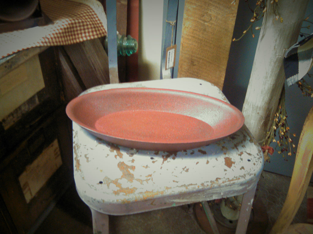 Rustic Burgundy/Red Decorative Bowl