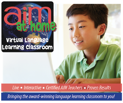 AIM at Home Online Classes - Level 1 - Beginner French for ages 8-12 years