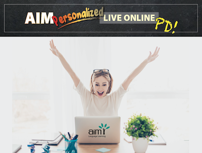 NEW! Personalized Live Online AIM PD - Core/FSL - FALL/WINTER