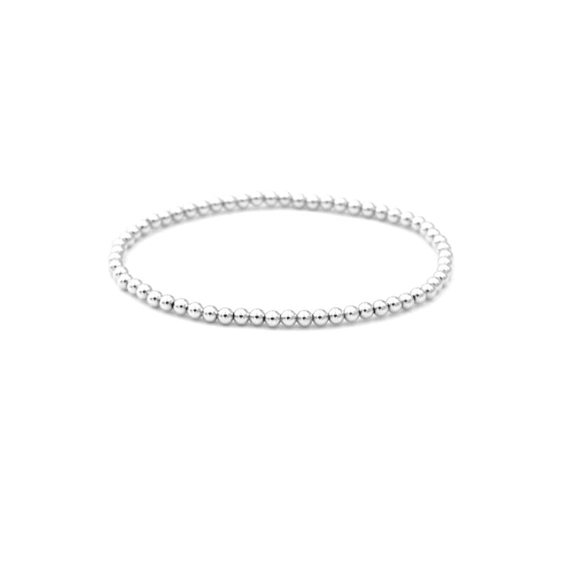 Sterling Silver Bracelet 3mm stretch elastic seamless