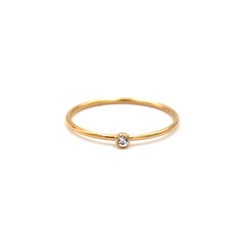 Small CZ Stacking Ring Gold Filled