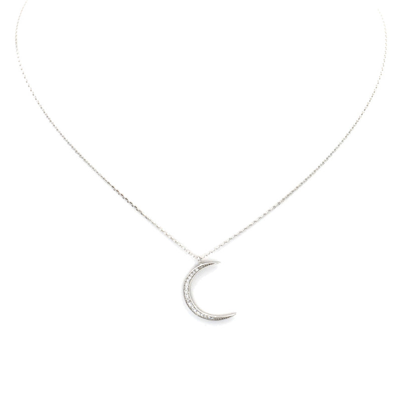 Crescent Moon Jeweled Necklace