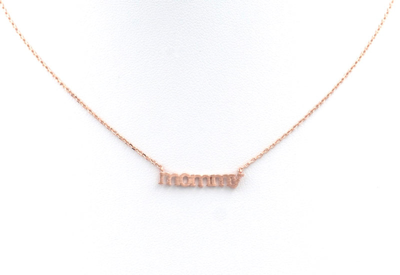 mommy necklace rose gold
