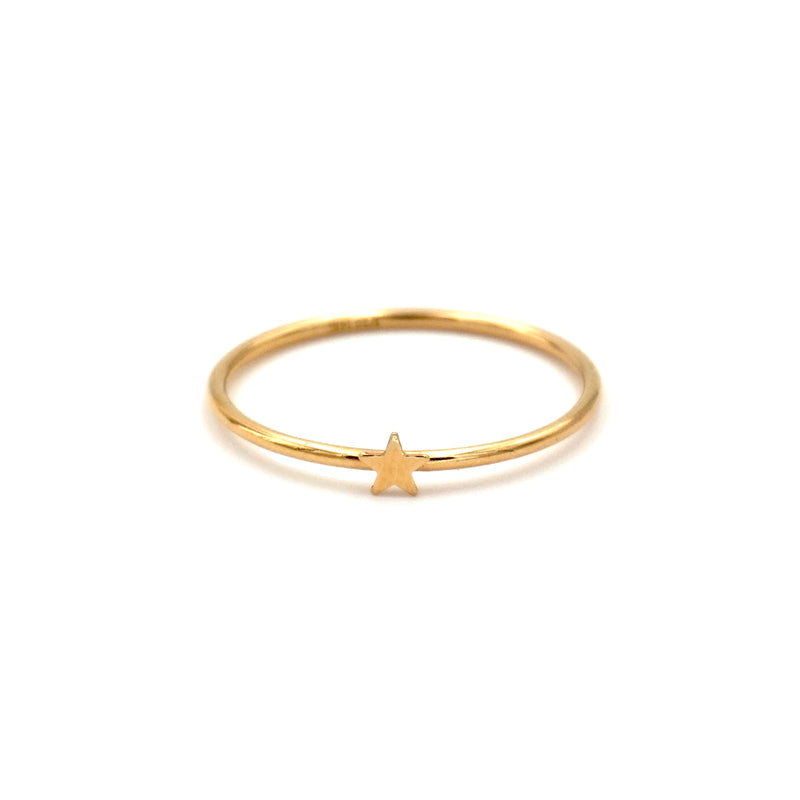gold filled star stacking ring dainty thin