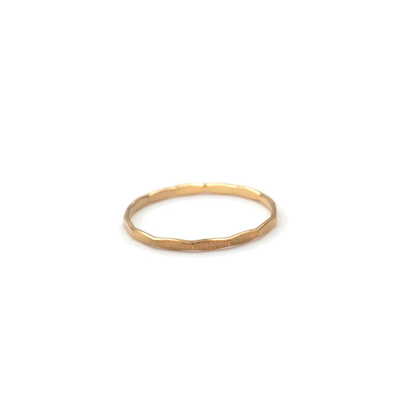 gold filled hammered stacking ring