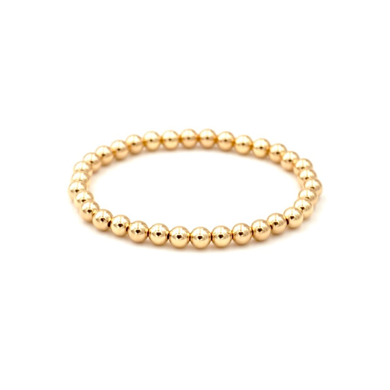 Gold Filled Beaded Stretch Bracelet 5mm