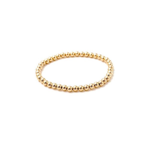 Gold Filled Beaded Stretch Bracelet 4mm