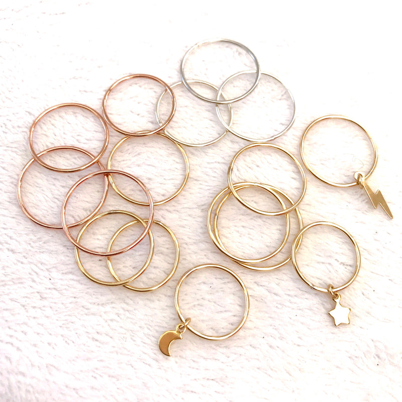 Stacking Rings, Gold Filled, Rose Gold Filled, Sterling Silver