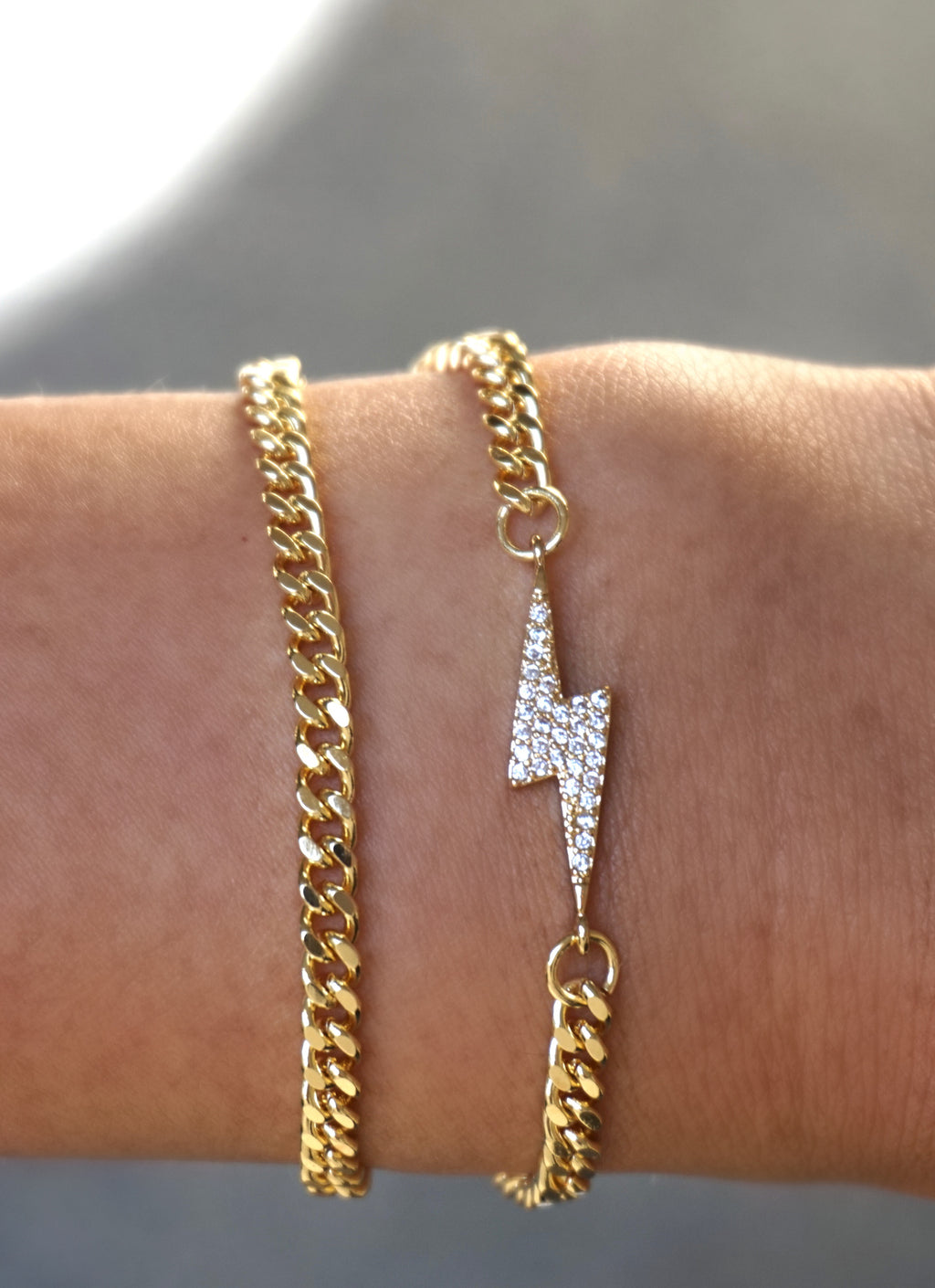 Double Wrap Lightning Bolt Chain Bracelet