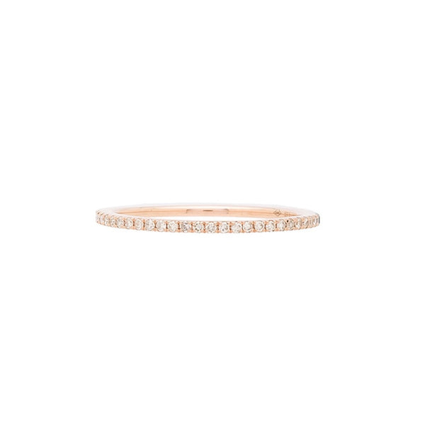 14k Gold Micropave Diamond Eternity Band