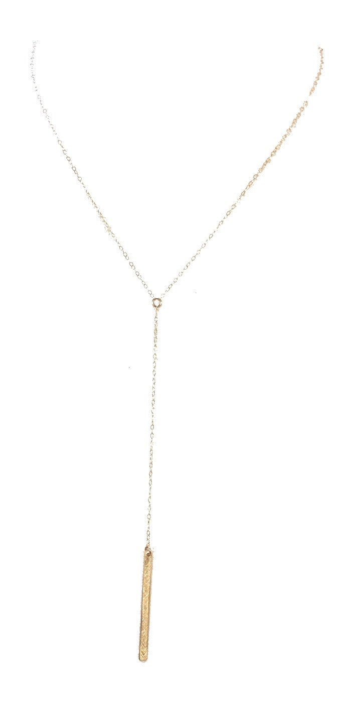 Visage Gold Filled Lariat Necklace