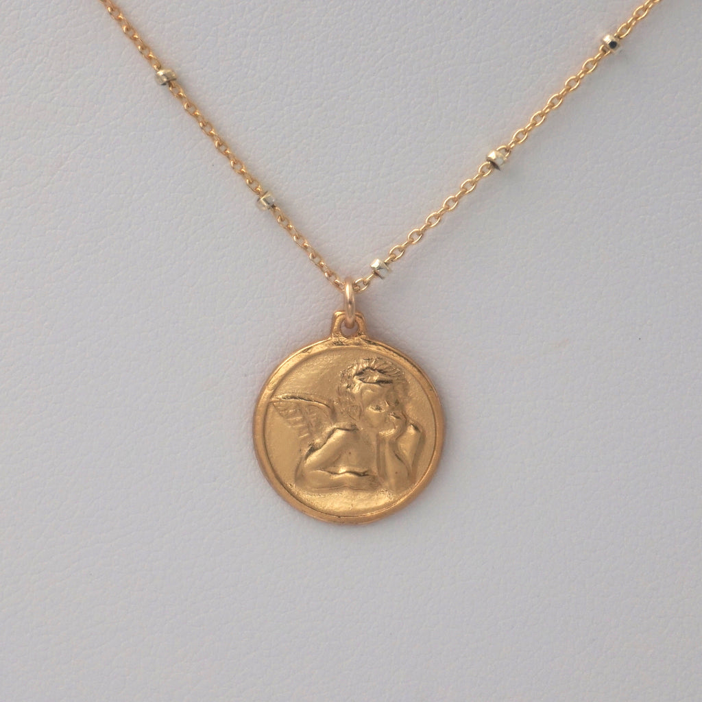 Angel Baby Coin Necklace