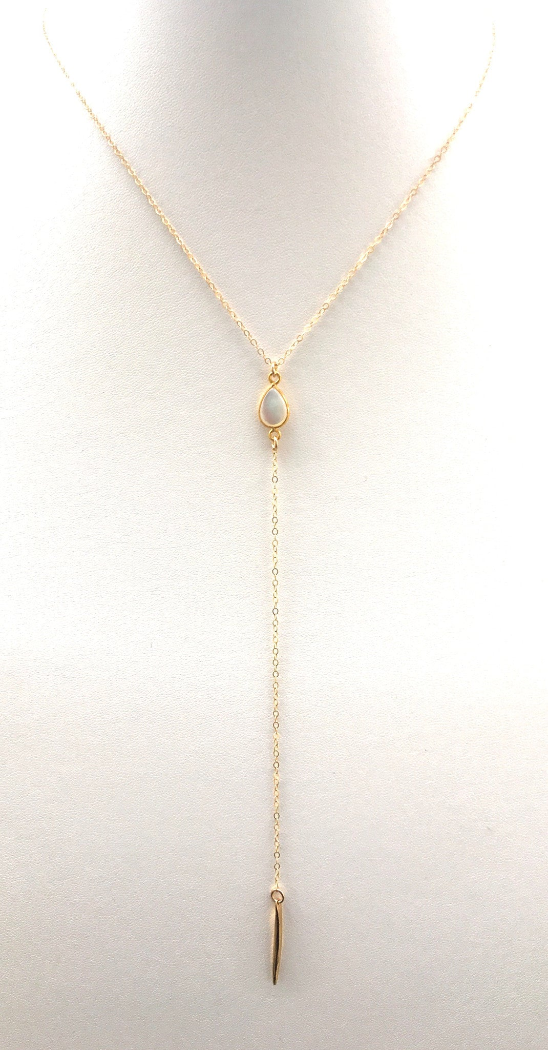 Mother of Pearl Spiked Lariat