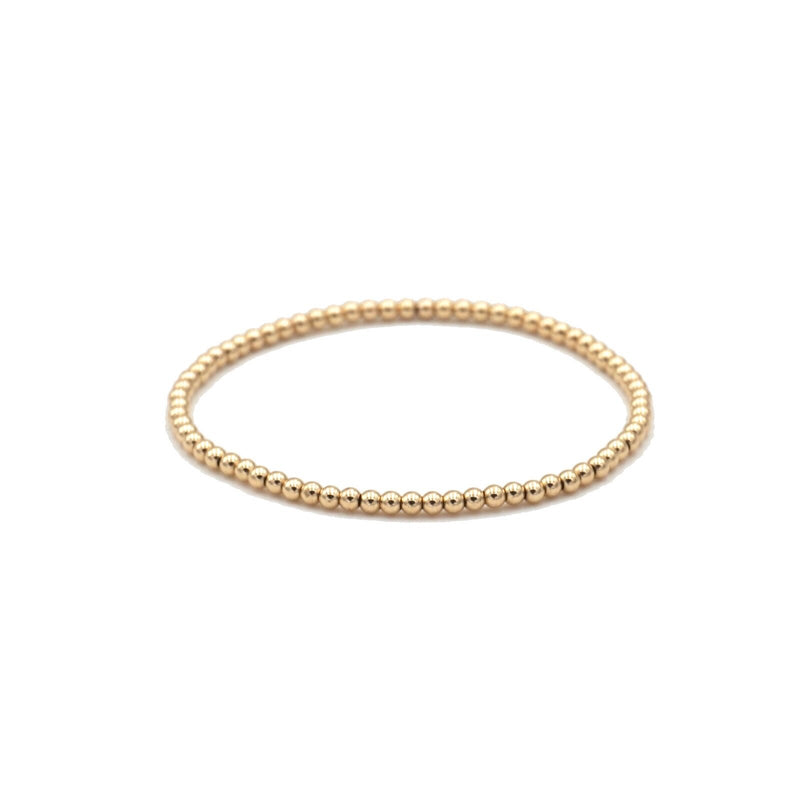Gold Filled Bracelet 2.5mm stretch elastic seamless