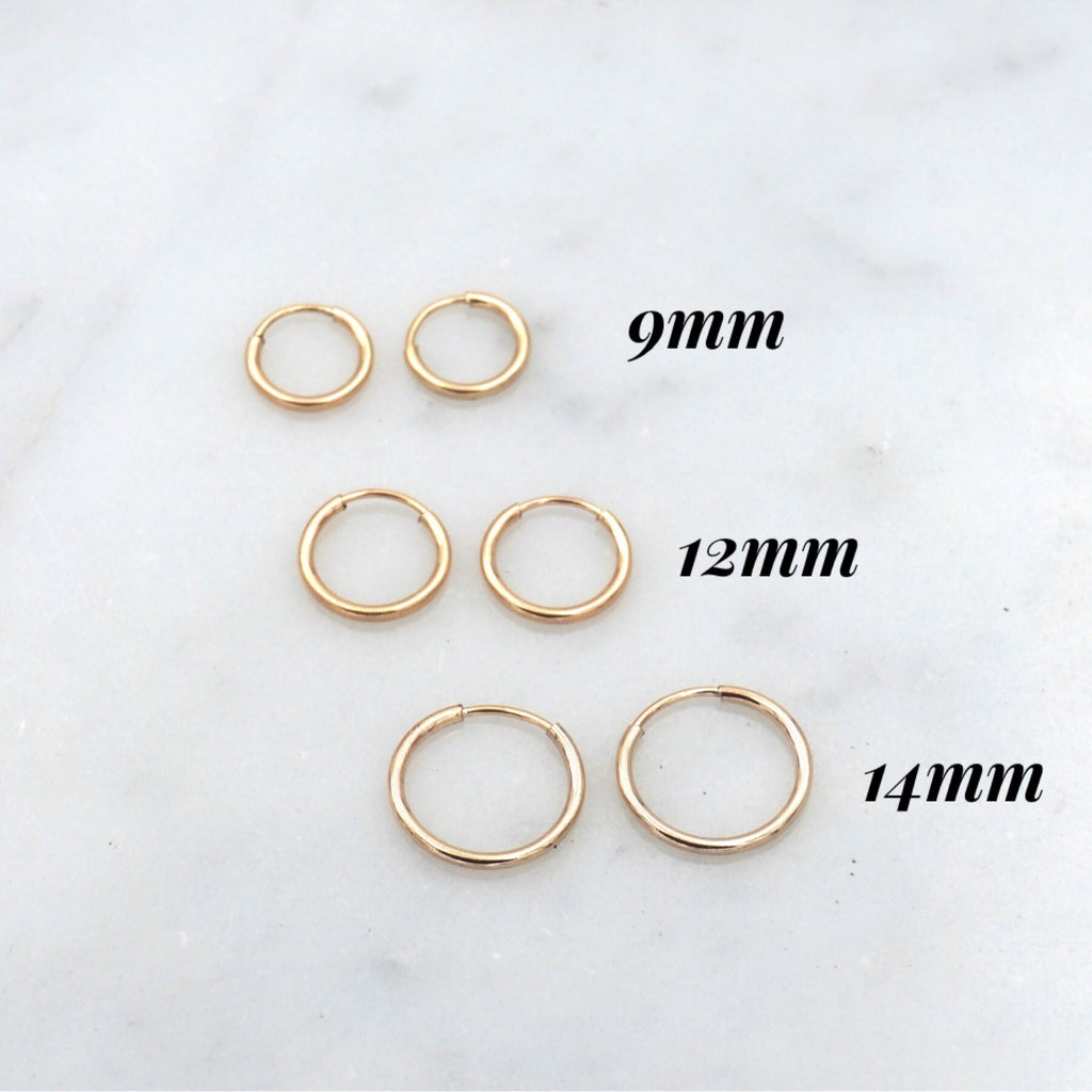 Tiny Thin Hoop Earrings