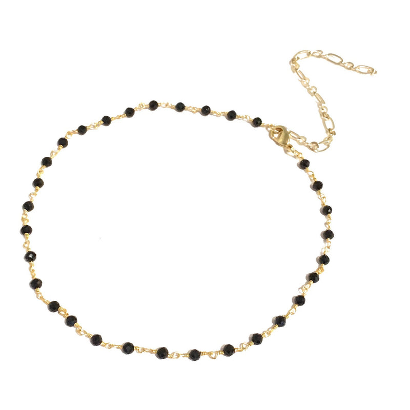 Black Spinnel Gold Choker
