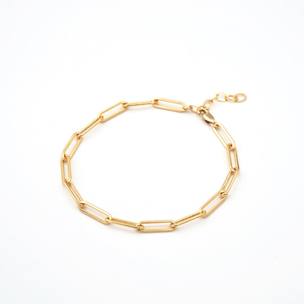 Large Link Chain Link Bracelet Gold Filled Extension