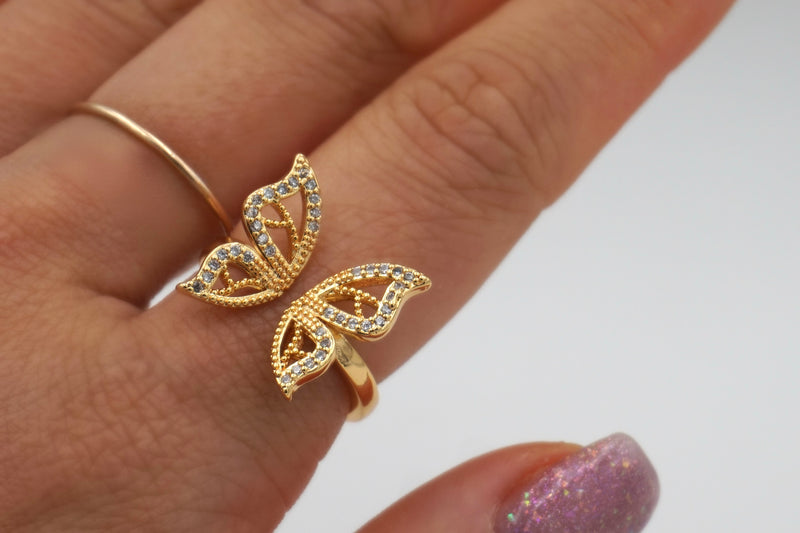 Beaut Butterfly Adjustable Ring