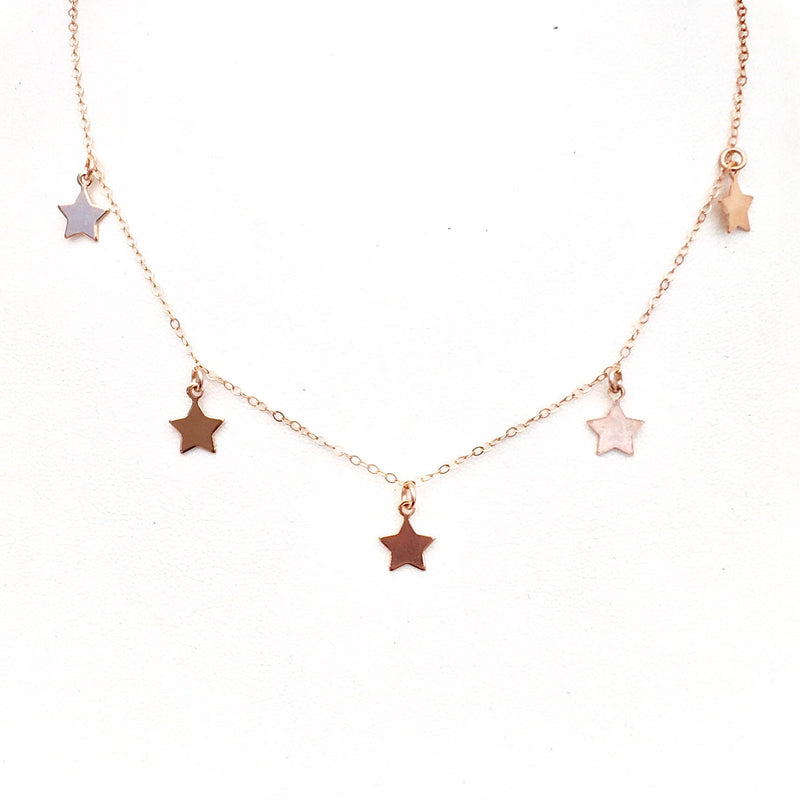 The Au Courant Five Star Choker in Rose Gold