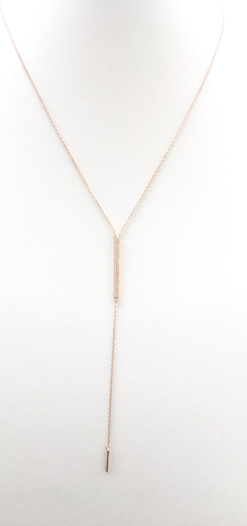 Glam Bar Lariat Rose Gold