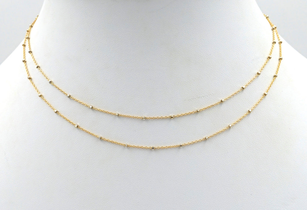 Double Layered Sparkle Choker