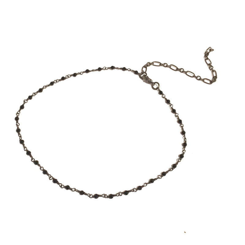 Black Spinnel Gunmetal Choker