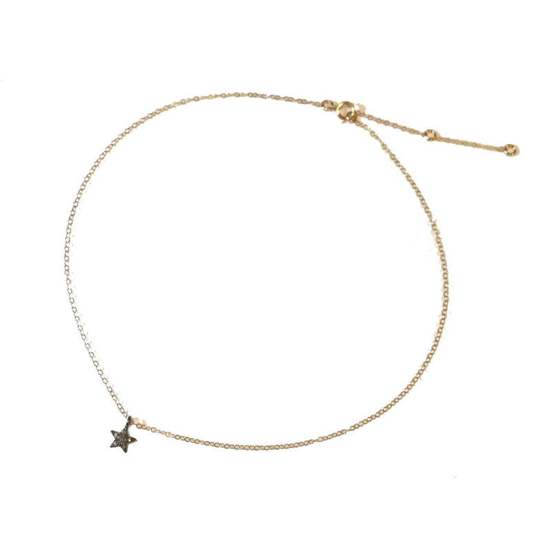 Star Diamond Pave Necklace
