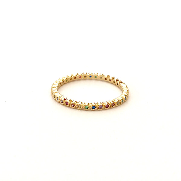 Daintier Rainbow Eternity Band Ring