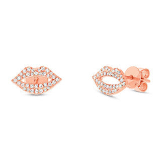 Lips Diamond Earrings