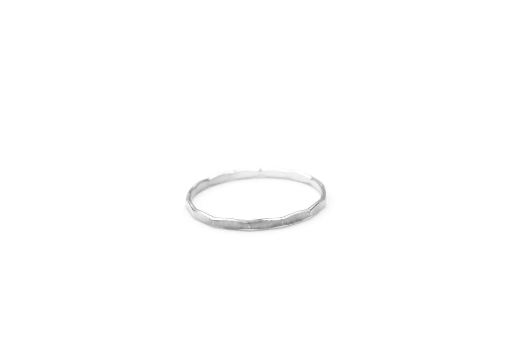 Hammered Stacking Ring, Sterling Silver