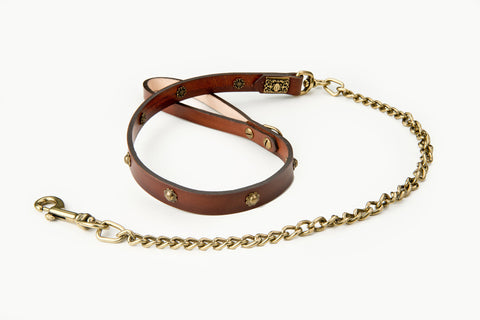 bessie leather dog lead